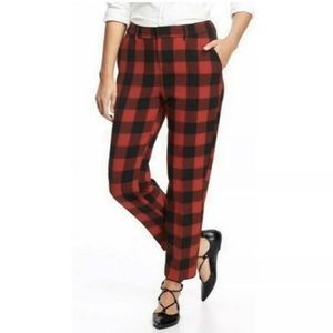 Old Navy Harper Ankle Mid Rise Check Plaid Pants